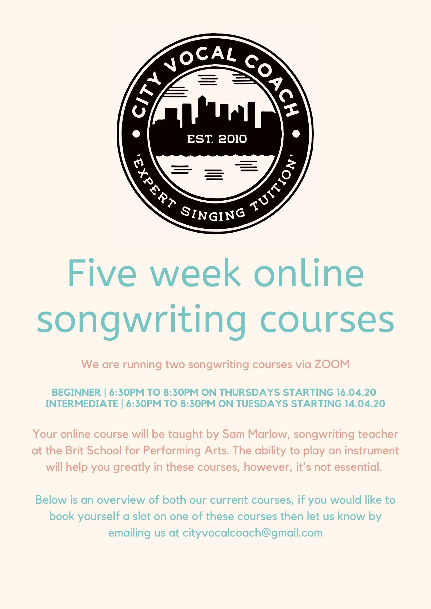 Songwriting Course Pt 1
